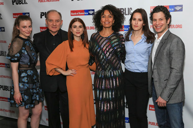 The company of Kings celebrated opening night at the Public Theater.