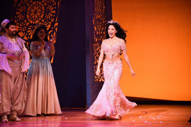 Arielle Jacobs makes a grand entrance for her first curtain call.