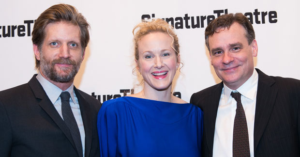 Paul Sparks, Katie Finneran and Robert Sean Leonard, the stars of At Home at the Zoo, celebrate opening night.