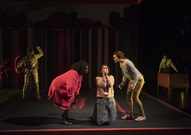 Birgundi Baker, Phoebe Gonzáles, and Dyllan Rodrigues-Miller appear in The Burn at Steppenwolf.