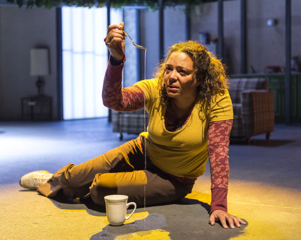 Luna Lauren Vélez as Odessa in the Center Theatre Group production of Water by the Spoonful, directed by Lileana Blain-Cruz, at the Mark Taper Forum.