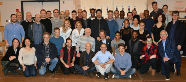 The full company of The Sting, running from March 29-April 29 at Paper Mill Playhouse.