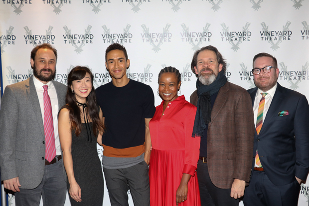 The cast pause for a photo following the show.