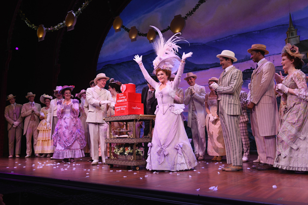 Bernadette Peters celebrates her birthday onstage at Broadway's Hello, Dolly!