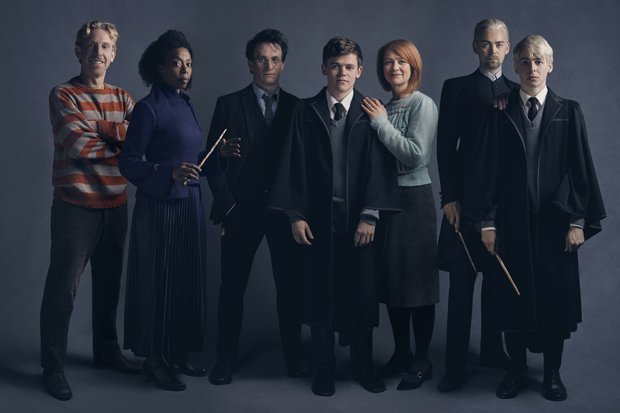 Paul Thornley plays Ron Weasley, Noma Dumezweni plays Hermione Granger, Jamie Parker plays Harry Potter, Sam Clemmett plays Albus Potter, Poppy Miller plays Ginny Potter, Alex Price plays Draco Malfoy, and Anthony Boyle plays Scorpius Malfoy in the Broadway debut of Harry Potter and the Cursed Child.