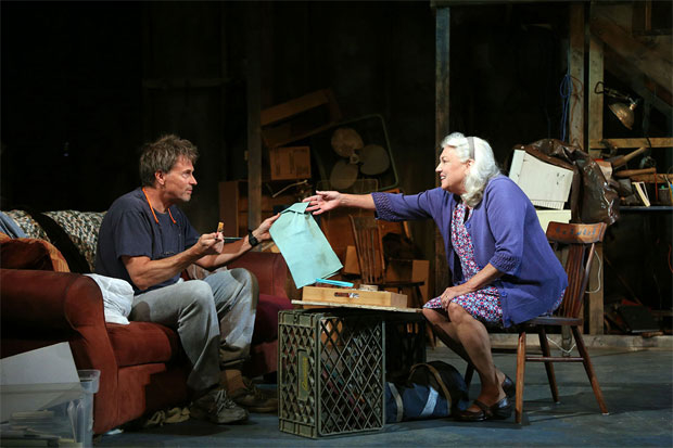 Tim Daly and Tyne Daly in the Dorset Theatre Festival production of Downstairs.