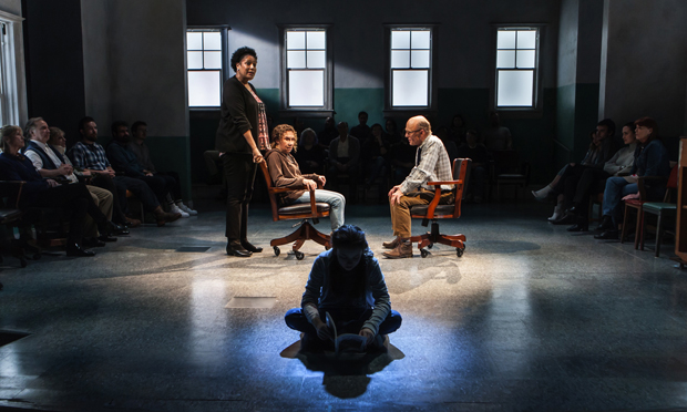 Nancy Giles, Rhea Perlman, Ed Harris, and Rileigh McDonald (foreground) star in David Rabe's Good for Otto.