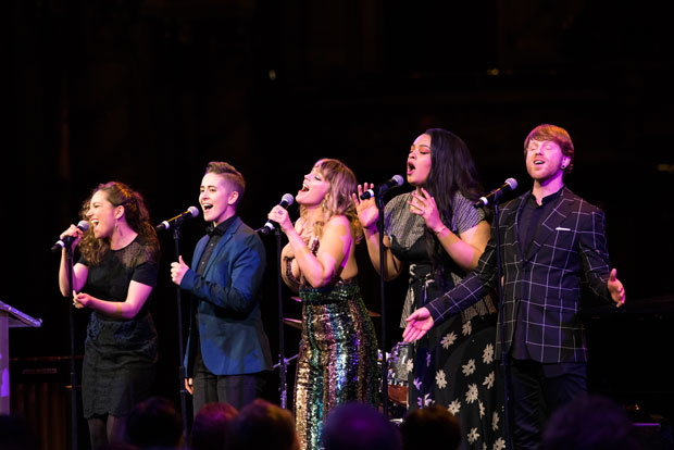 Cast members of Jagged Little Pill perform at A.R.T.'s annual gala.
