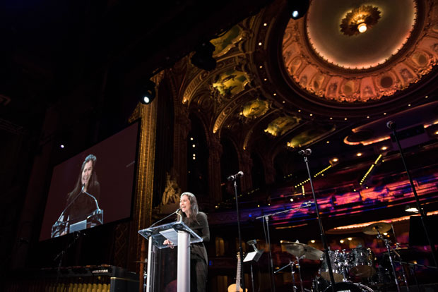 A.R.T. artistic director Diana Paulus speaks at the organization's annual gala.