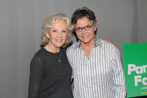 Amanda Bearse (right) joins Hayley Mills in the cast of Party Face at New York City Center — Stage II.