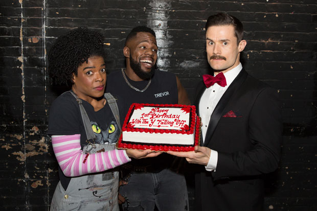The Play That Goes Wrong celebrates is one year anniversary on Broadway.