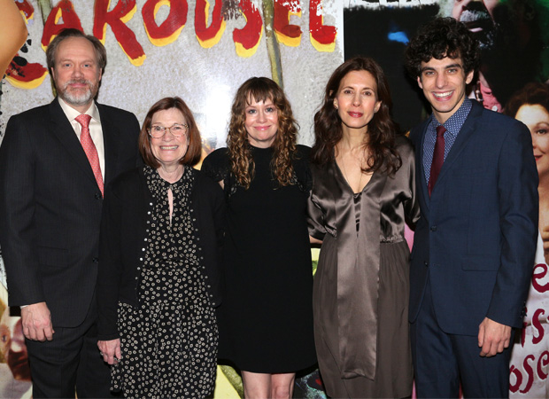 The cast of Admissions: Andrew Garman, Ann McDonough, Sally Murphy, Jessica Hecht, and Ben Edelman.