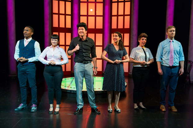 The cast of the Second City's Almost Accurate Guide to America at the Kennedy Center.