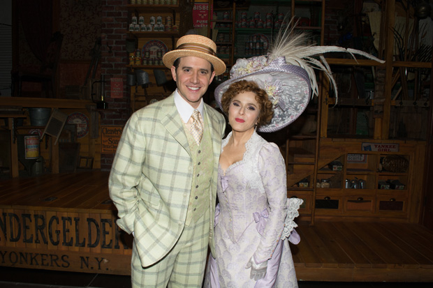 Santino Fontana and Bernadette Peters star in Hello, Dolly! at Broadway's Shubert Theatre.