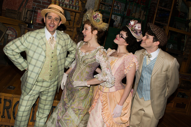 Santino Fontana joins Kate Baldwin, Molly Griggs, and Charlie Stemp in Hello, Dolly! on Broadway.