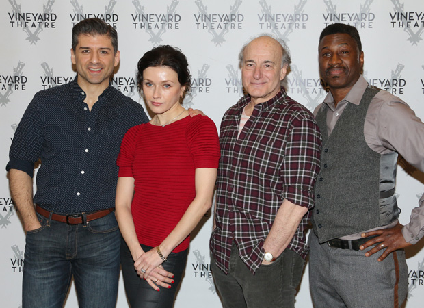 Tony Yazbeck, Irina Dvorovenko, Peter Friedman, and Teagle F Bougere lead the cast of The Beast in the Jungle, directed by Susan Stroman, at the Vineyard Theatre.