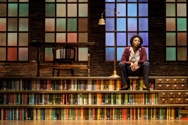 Sharon Washington in Feeding the Dragon, a production of Primary Stages at the Cherry Lane Theatre.