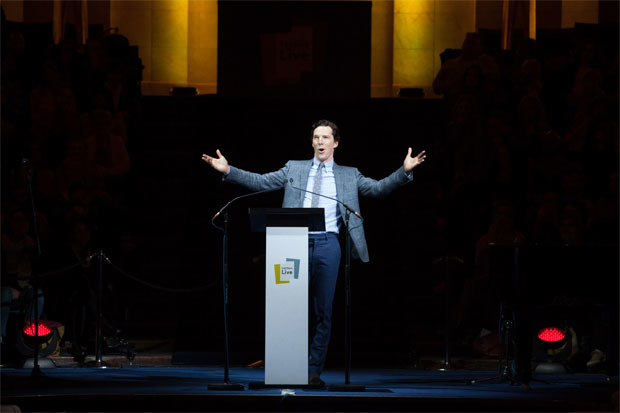 Benedict Cumberbatch will star in the New York debut of Letters Live.