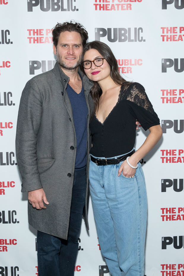 Steven Pasquale and Phillipa Soo were in the audience for opening night.