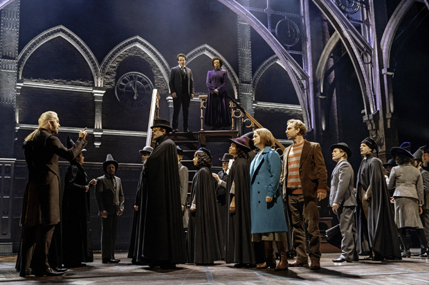 Forty actors make up the Broadway company of J.K. Rowling, Jack Thorne, and John Tiffany's Harry Potter and the Cursed Child, directed by Tiffany, at the Lyric Theatre.