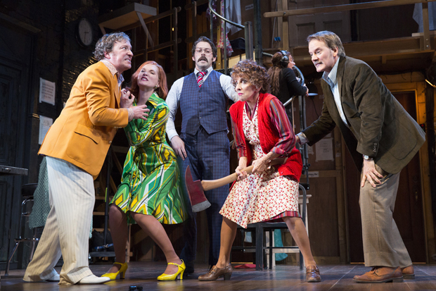 Jeremy Shamos, Kate Jennings Grant, David Furr, Andrea Martin, and Campbell Scott starred in the 2016 Broadway revival of Noises Off.