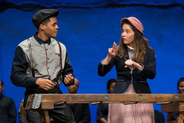 Deric Augustine and Sandra Mae Frank starred in the 2017 Deaf West production of Our Town at the Pasadena Playhouse.