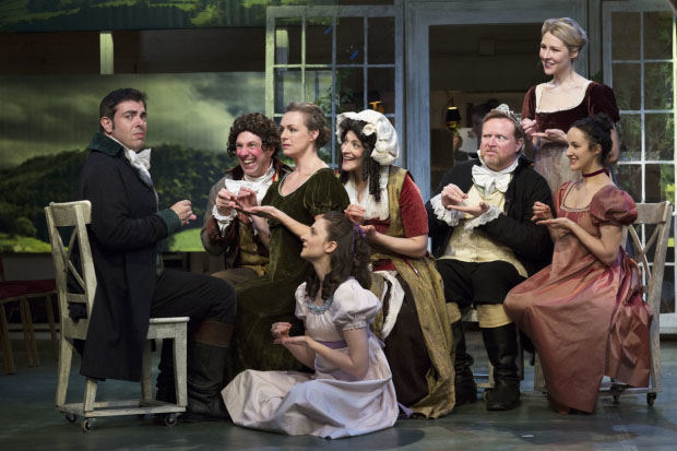 A scene from Bedlam's off-Broadway production of Sense and Sensibility at the Gym at Judson.