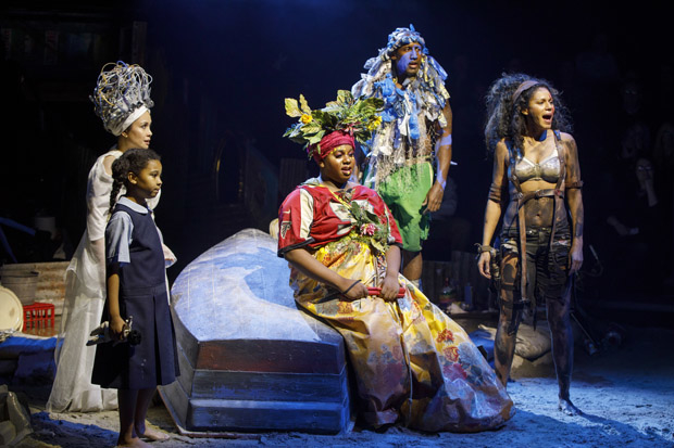 Emerson Davis, Lea Salonga, Alex Newell, Quentin Earl Darrington, and Merle Dandridge star in the Broadway revival of Once on This Island.