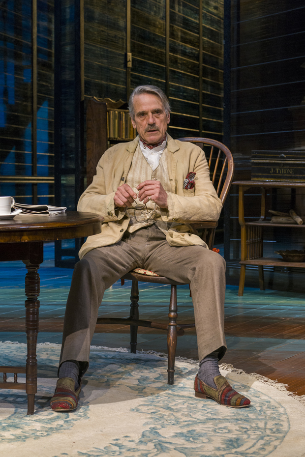 Jeremy Irons as James Tyrone in the Bristol Old Vic production of Long Day's Journey Into Night at Brooklyn Academy of Music.