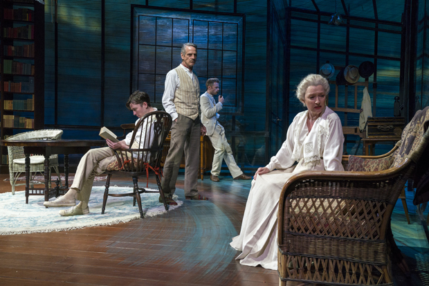 Matthew Beard, Jeremy Irons, Rory Keenan, and Lesley Manville in Long Day's Journey Into Night.