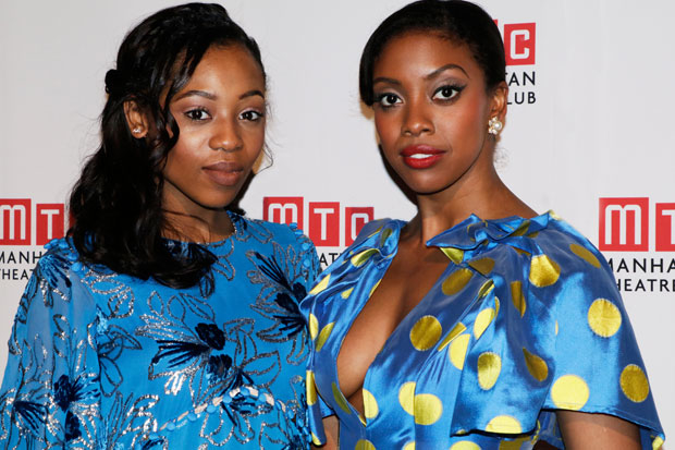 Tony nominees Hailey Kilgore and Condola Rasha take a photo together at Manhattan Theatre Club's annual gala.