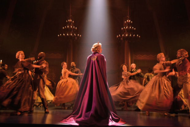 Caissie Levy stars as Elso in Frozen on Broadway.