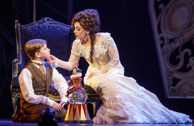 Jake Heston Miller (Gustave) and Meghan Picerno (Christine Daaé) in the North American touring company of Love Never Dies.