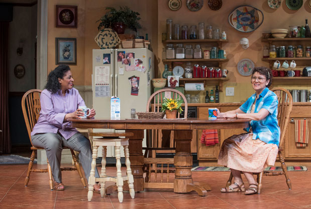 Ora Jones and Sandra Marquez star in The Roommate, directed by Phylicia Rashad, at Steppenwolf Theatre.