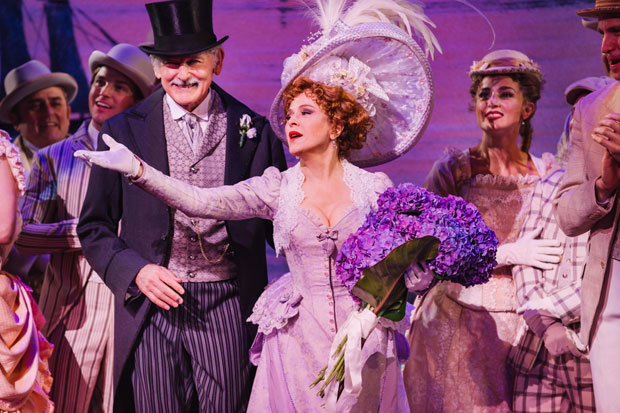 Bernadette Peters takes her final bow in Hello, Dolly! at the Shubert Theatre.