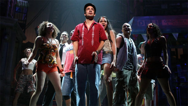 Lin-Manuel Miranda and the original cast of In the Heights.