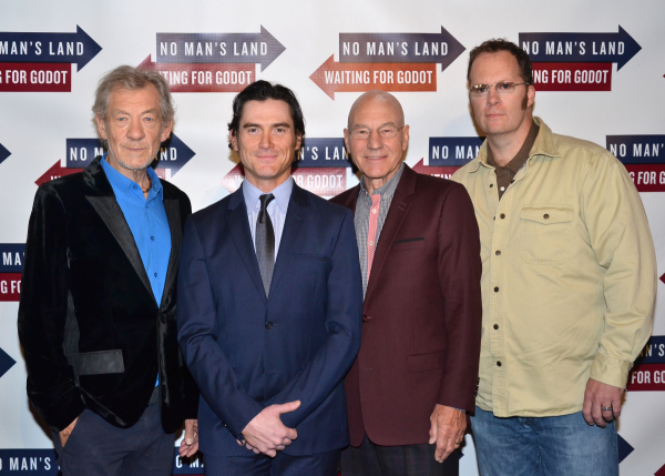Ian McKellen, Billy Crudup, Patrick Stewart, and Shuler Hensley