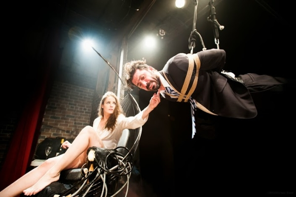 Arden Leigh as Woman and Greg Dubin as Man in Penance