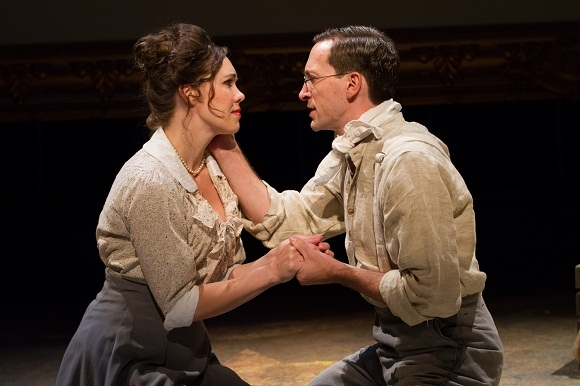 Jennie Eisenhower as Lucille Frank and Ben Dibble as Leo Frank in Arden Theatre Company's production of Parade.