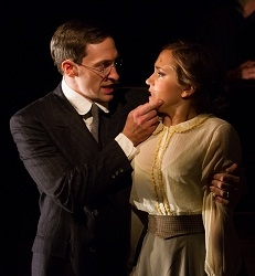 Ben Dibble as Leo Frank and Rachel Camp as Essie in Arden Theatre Company's production of Parade.
