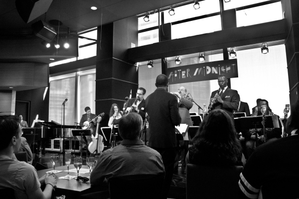 Daryl Waters conducts the Jazz at Lincoln Center All-Stars.
