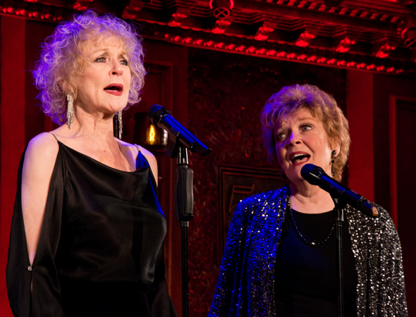 Penny Fuller and Anita Gillette on stage at 54 Below.