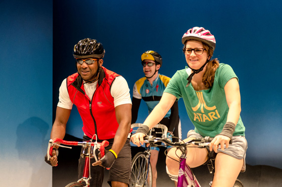 Landon G. Woodson, Tom White & Jessica DiGiovanni in Bike America.