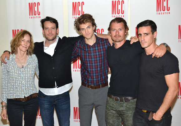 Director Jo Bonney, playwright/actor John Pollono, Keegan Allen, James Badge Dale, and James Ransone.