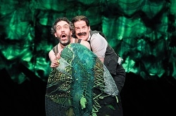 Kevin Del Aguila and Rick Holmes in Peter and the Starcatcher.