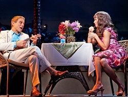 Tony Danza and Brynn O'Malley in the new musical Honeymoon in Vegas at Paper Mill Playhouse.
