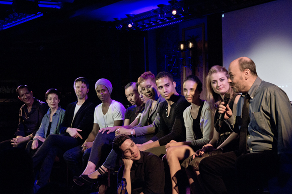 Todd Graff (far right) leads the cast talkback at 54 Below.