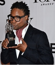Billy Porter with his 2013 Tony Award for Best Leading Actor in a Musical for his performance in Kinky Boots.