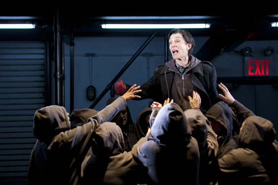Harriet Walter and the cast of Julius Caesar.