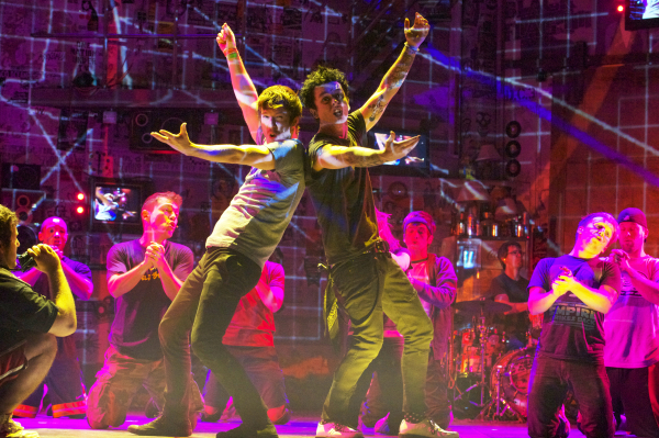 John Gallagher, Jr. and Billie Joe Armstrong in American Idiot